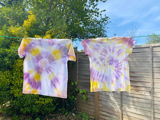 Tie Dying with natural dye made at home!