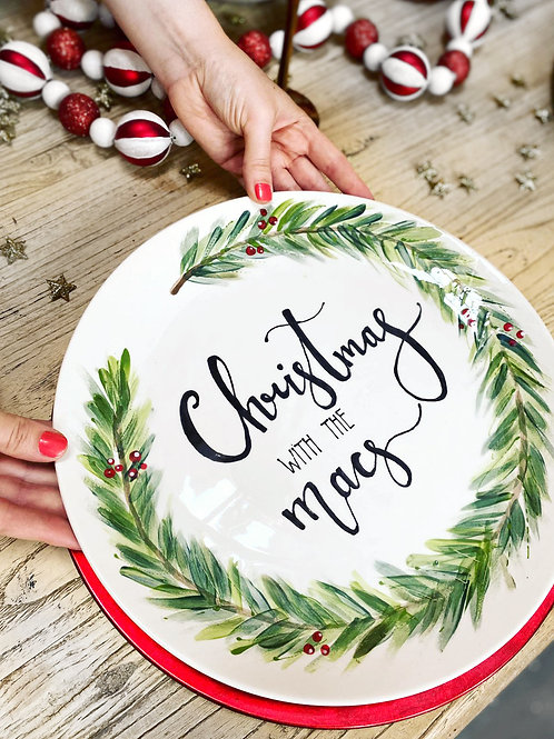 Bespoke Personalised Christmas Family Plates-Made by us!