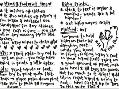 Baby footprints demo 👣