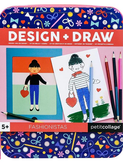 Petit Collage Design & Draw Fashion Set
