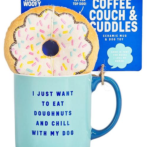Wild & Woofy Mug and Donut Dog Toy