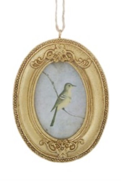 Oval gold Mini Hanging Frame
