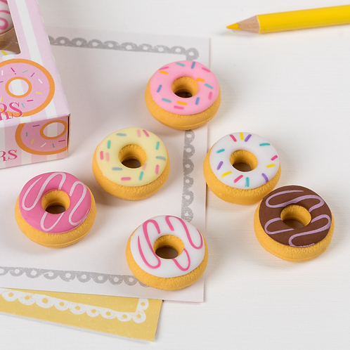 Scented Donut Erasers (set of 6)