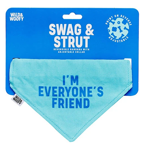 I'm Everyone's Friend Reversible Dog Bandana