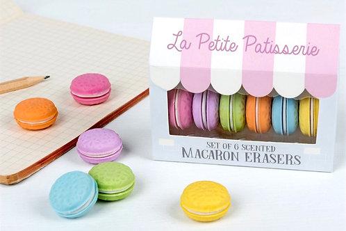 La Petite PatisserieSet Of 6 Macaron Erasers
