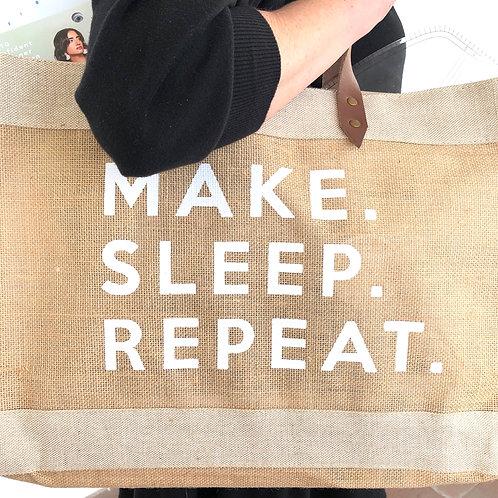 Make. Sleep. Repeat. Tote Bag