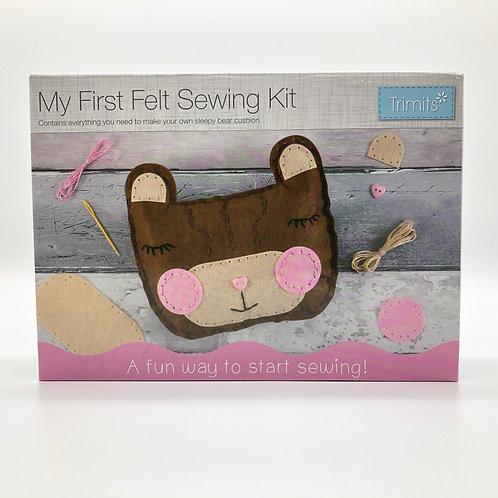 My First Sewing Kit - Teddy Bear Cushion