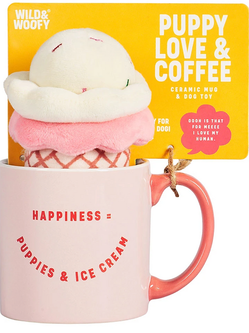 Wild & Woofy Mug and Ice Cream Dog Toy