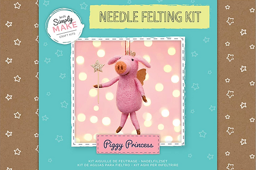 Piggy Princess Needle Felting Kit