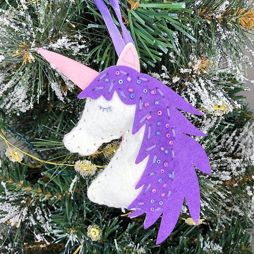 Christmas decoration craft kit - Unicorn