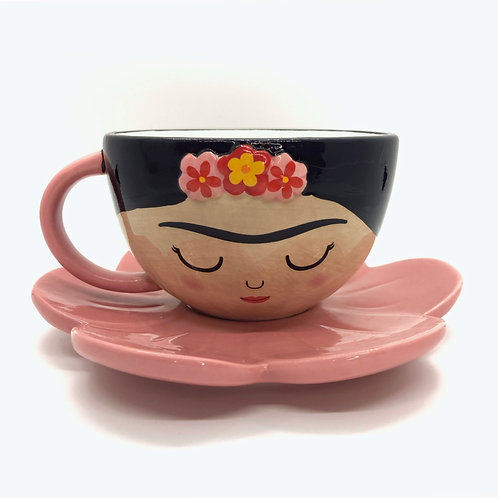 Frida Cup & Flower Saucer Set
