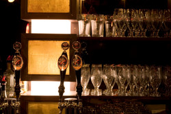 bar columns with light boxes