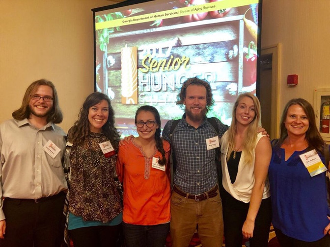 Campus Kitchen send's Exec Board Members to The Second Annual Senior Hunger Summit
