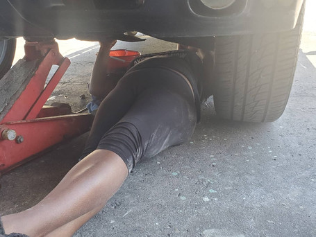 Me learning to change oil