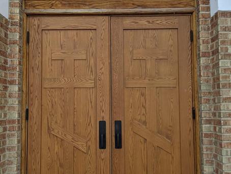 New wooden doors!!
