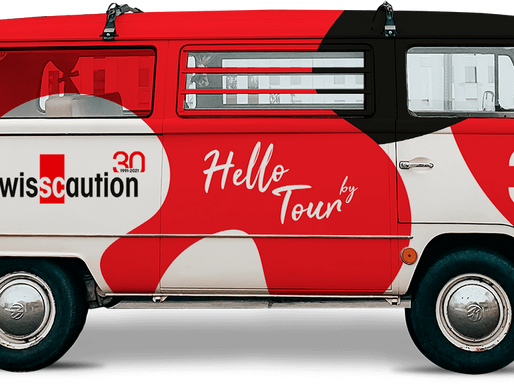 Swisscaution célèbre cette année son 30ème anniversaire et annonce le lancement du Hello Tour