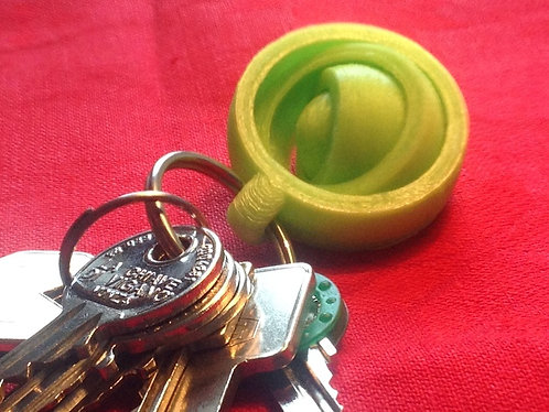 Gyroscopic key ring