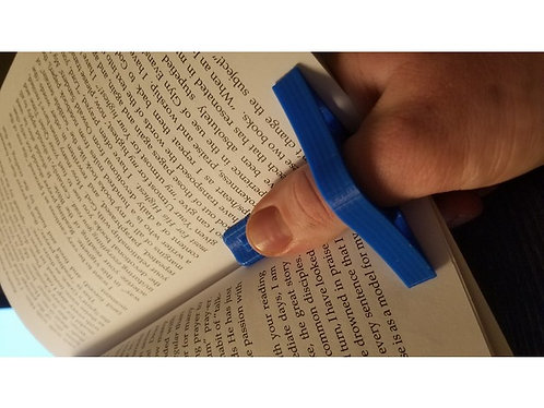 Thumb page holder and bookmark