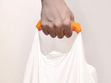 Comfortable shopping bag handle