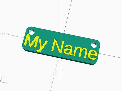 Customizable name tag