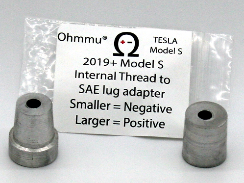 Model S to SAE lug adapters (needed for May-2019 and later vehicles)