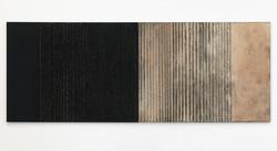 07. Granite, Charcoal and Granite Stones - Shifting Sands 2017, 122 x 320 cm, granite, charcoal, san