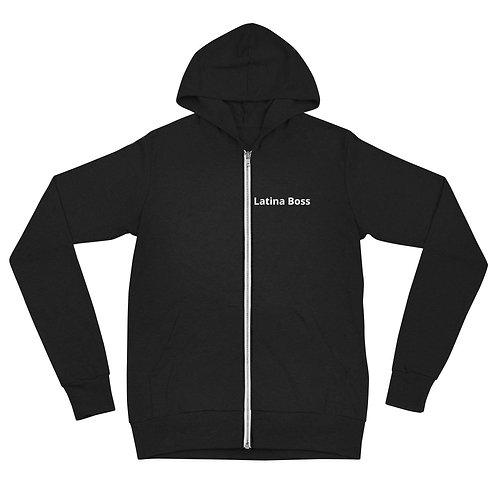 Latina Boss Unisex zip hoodie