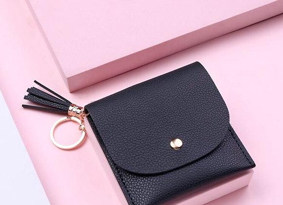 Card Purse with Tassel Keychain