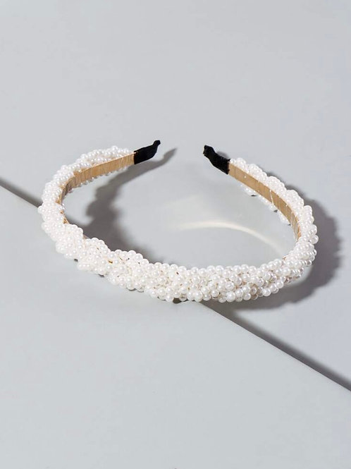 Braided Pearl Headband