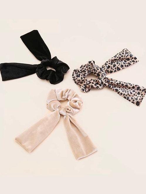 Velvet Scrunchie with Ties
