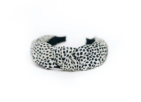 Animal Print Satin Topknot Headband