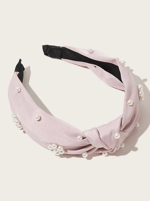 Floral Pearl Topknot Headband