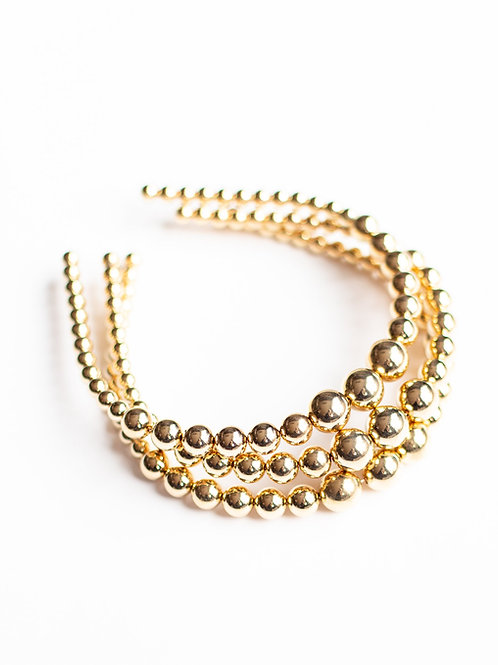 Gold Pearl Strand Headband