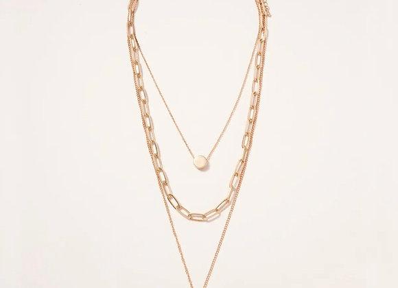 Lock Layered Necklace