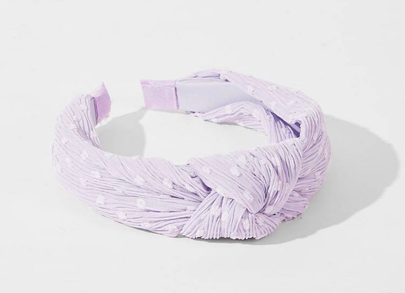 Lilac Swiss Dot Topknot