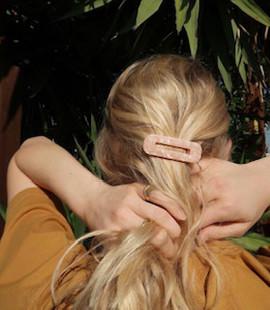 Marble Hair Clips