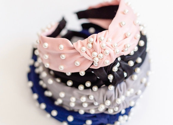 Pearl Top Knot Headband