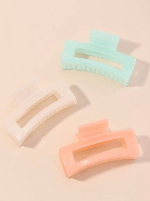 Spring Rectangle Claw Clip