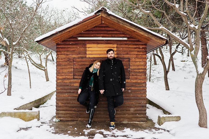 Katerina & Dimitris winter engagment sho