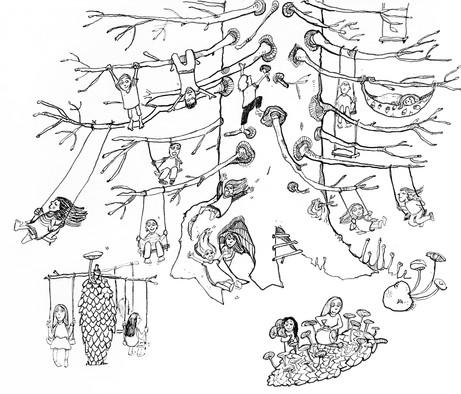 Lustipuu kuusk, asub Põlvamaal Ahja kand