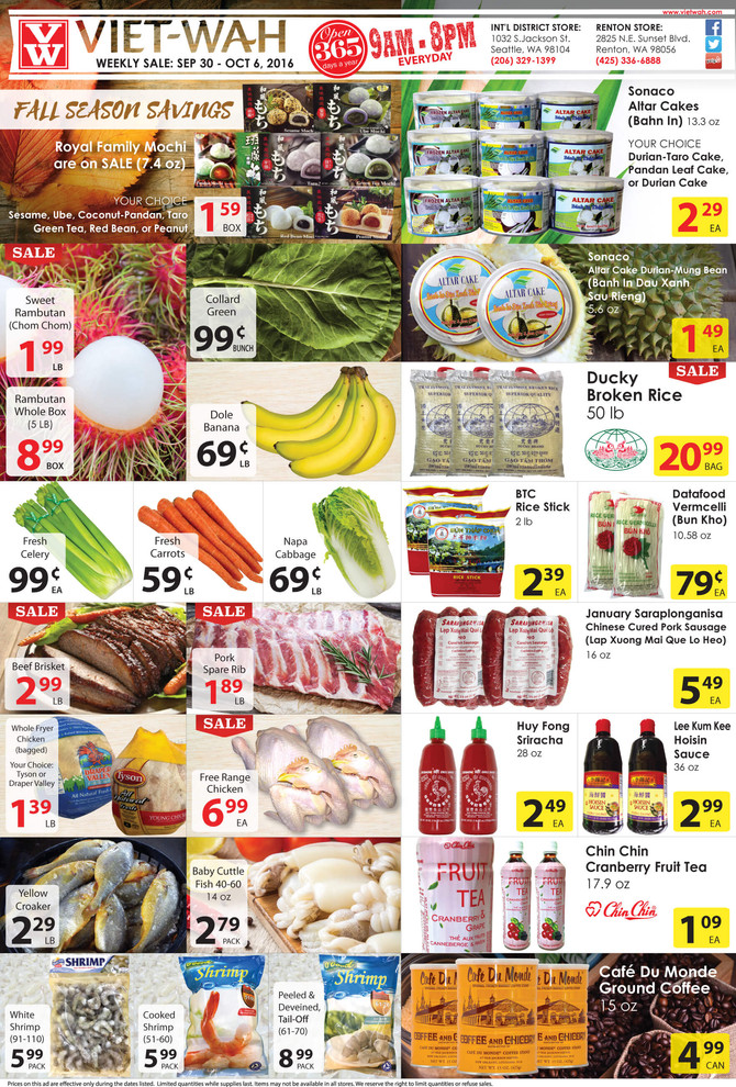 Weekly Ad (Sept 30 - Oct 6, 2016)