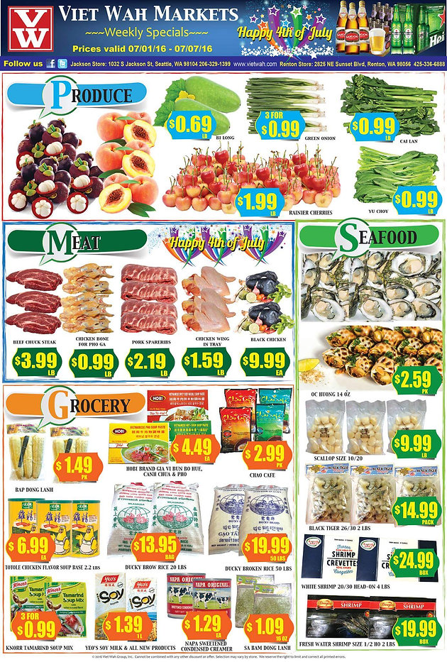 Weekly Ad July 1-7, 2016 | Asian Food Market, Online