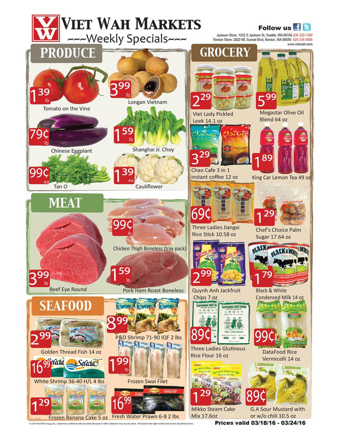 Weekly Ad March 18-24, 2016