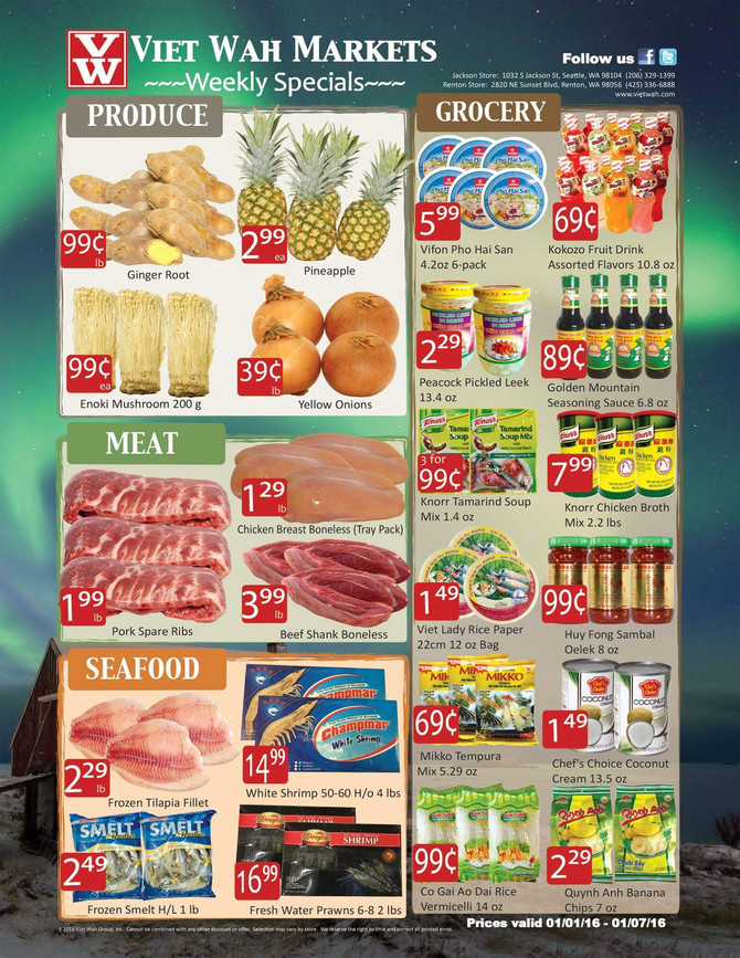 Happy New Year!  Weekly Ad Jan 1-7, 2016