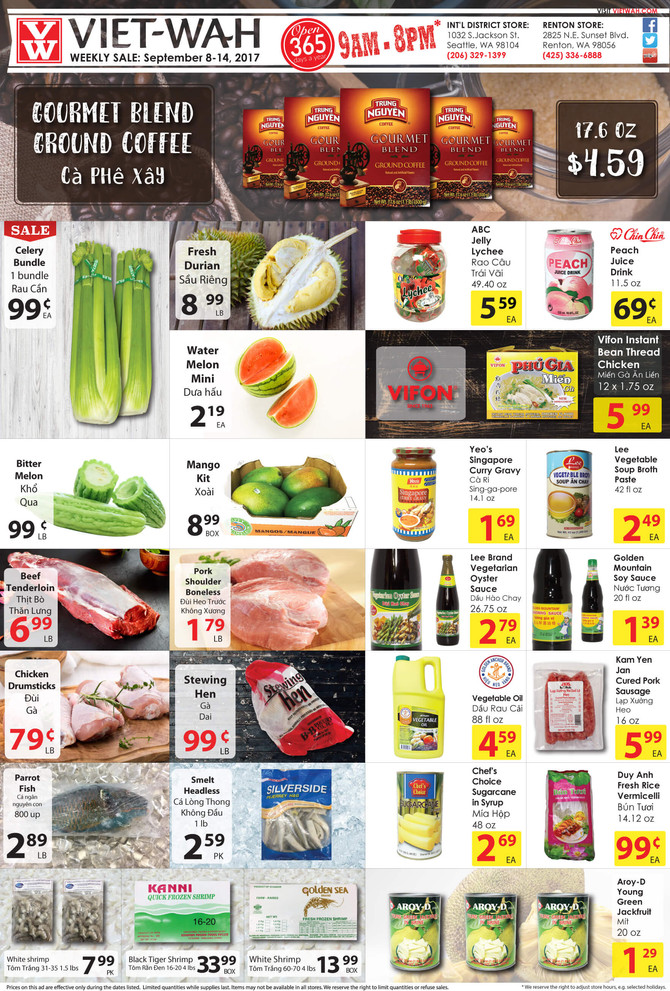 Weekly Ad (Sept 8-14, 2017)