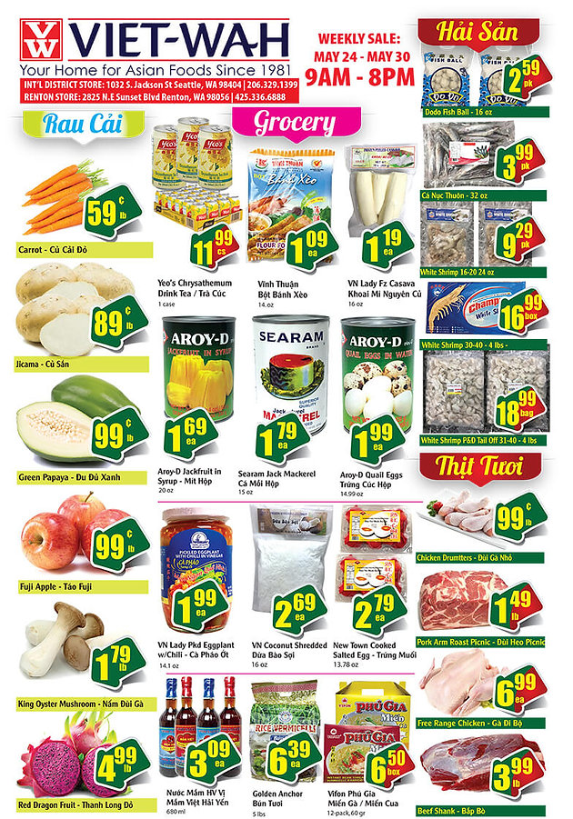 Weekly Ad (May 24 - 30, 2019)   Asian Food Market, Online Specials