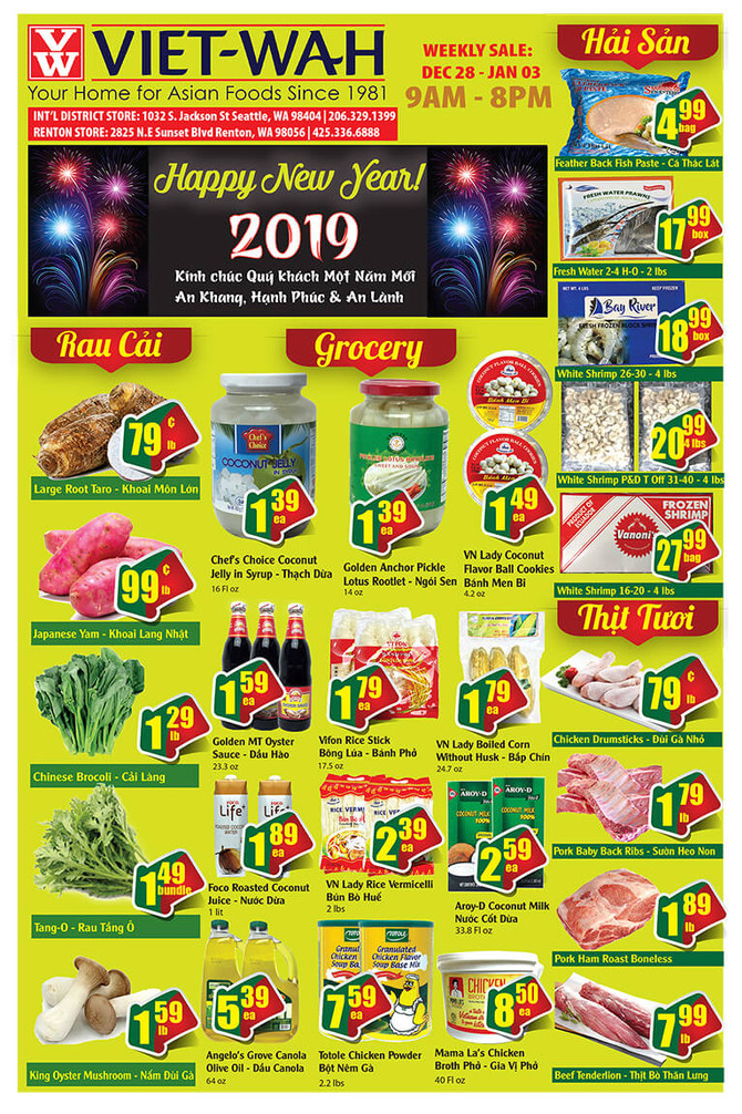 Weekly Ad (Dec 28, 2018 - Jan 3, 2019)