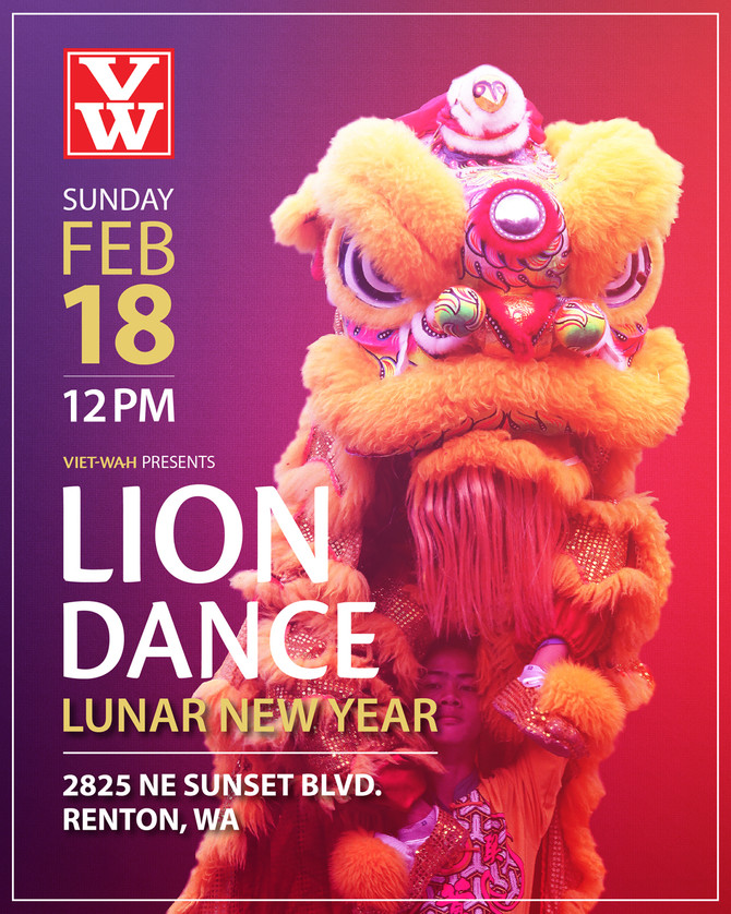 JOIN US!  Lion Dance Event at VW Renton: Sunday, Feb. 18 @ Noon
