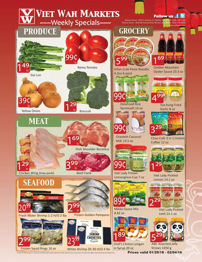 Weekly Ad Jan 29 - Feb 4, 2016
