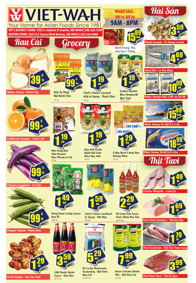 Weekly Ad (Sept 14-20, 2018)